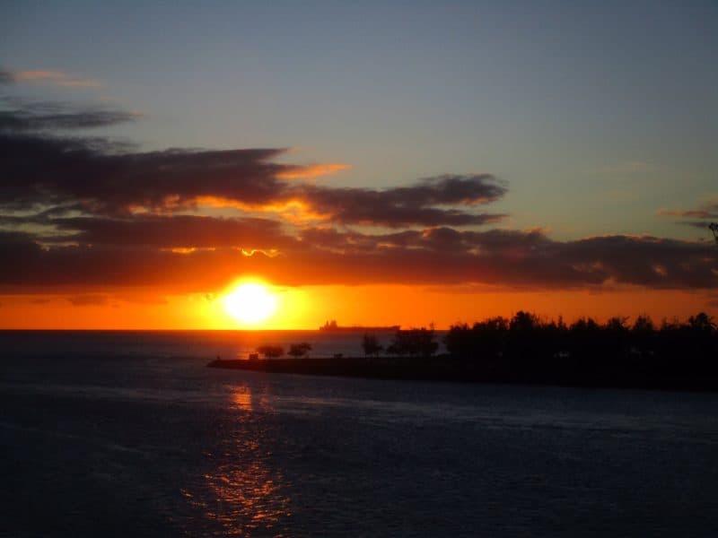 Hawaii Sunset - Carnival Miracle 2014