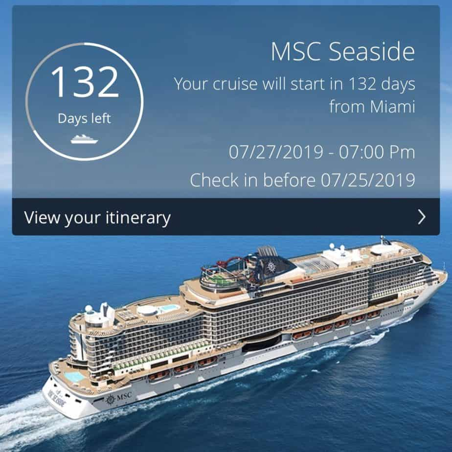 MSC Seaside 2019 Countdown