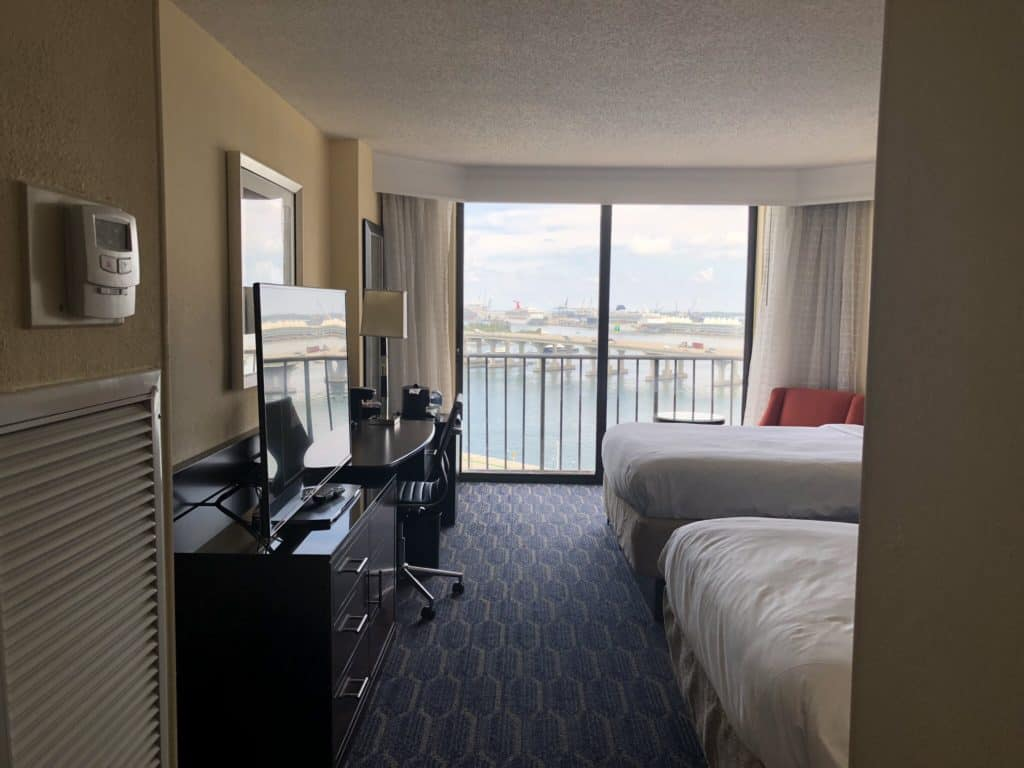 Room at the Miami Marriott Biscayne Bay