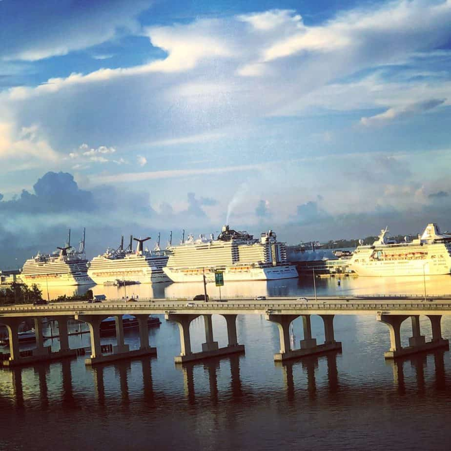 Ships at the Port of Miami