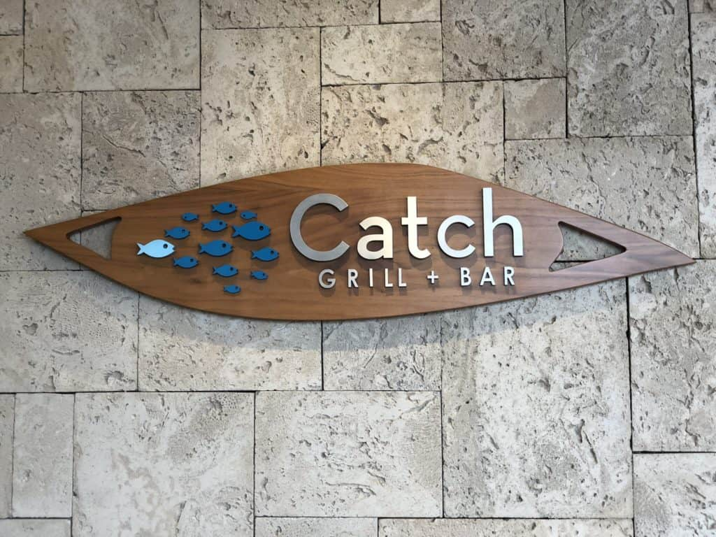 Photo of the Catch Grill Sign