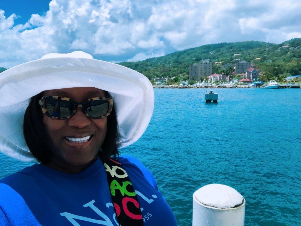 Photo of Ola in beautiful Jamaica