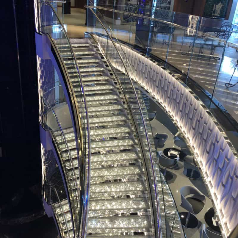 MSC SEASIDE CRYSTAL STAIRS