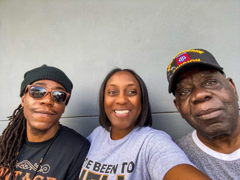 Dad, Askari and I