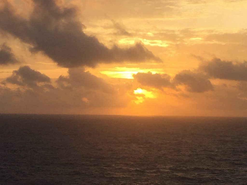 Sunset photo taken on the Carnival Sunshine in 2016