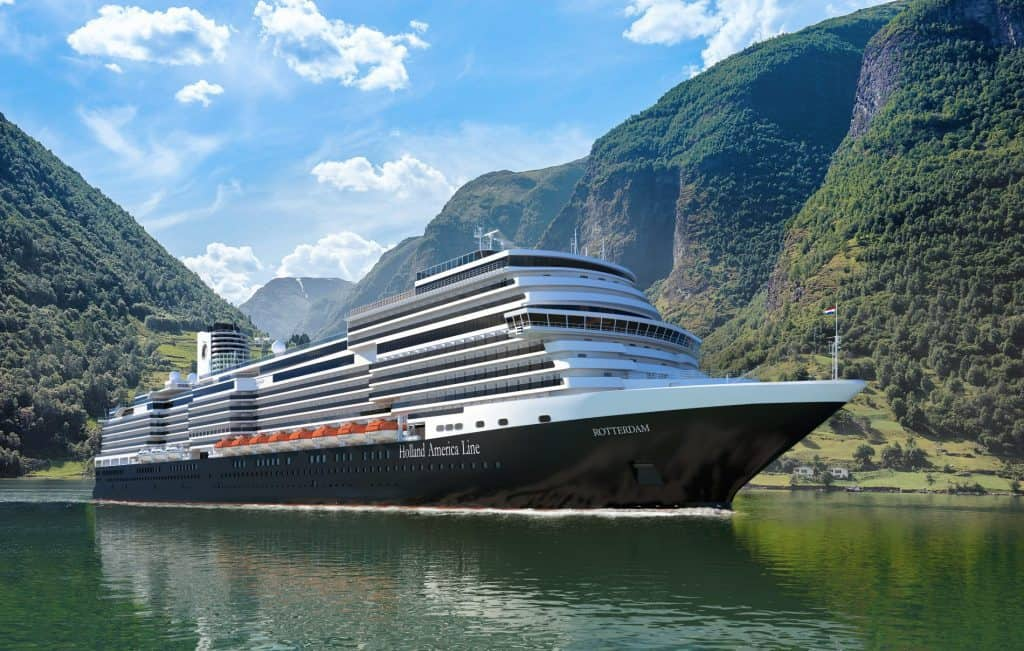 photo of holland america's rotterdam cruise ship of 2021