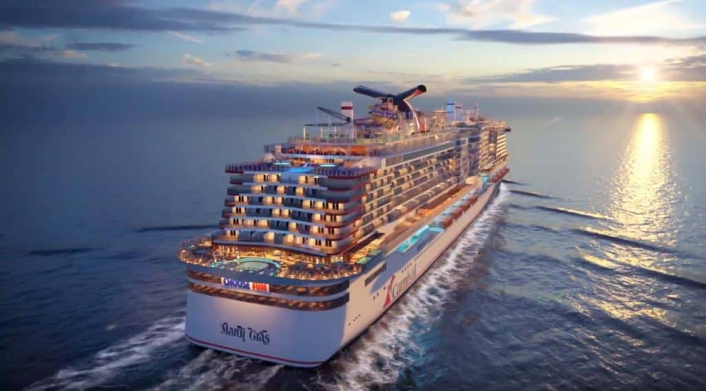 Photo of Carnival Mardi Gras cruise ship of 2021