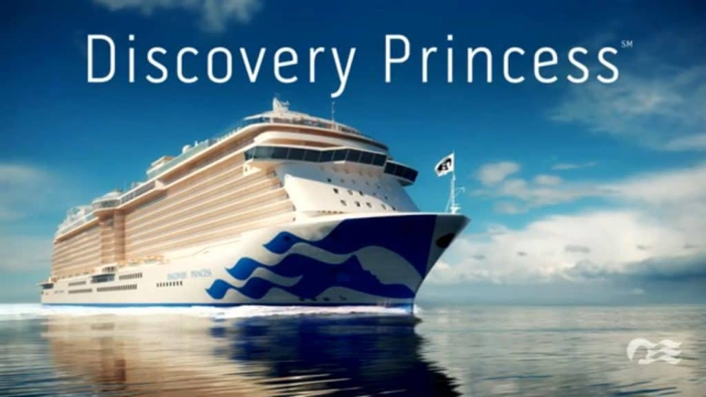 photo of discovery pricess cruise ship of 2021