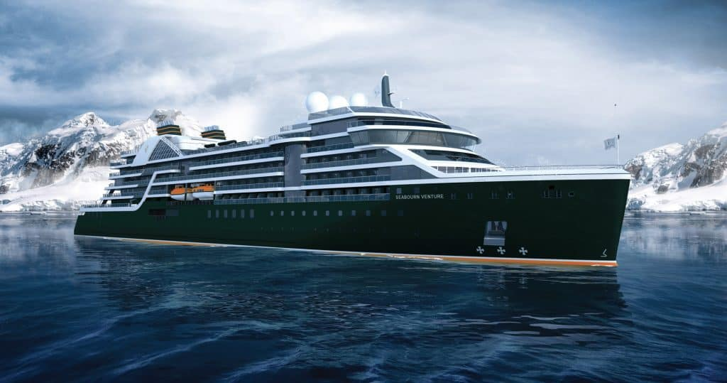 photo of seabourn venture cruise ship of 2021